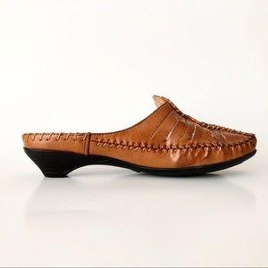 Vintage | Leather Slip-on Slides